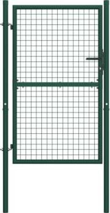 Poarta de gard, verde, 100 x 175 cm, otel de la Vidaxl