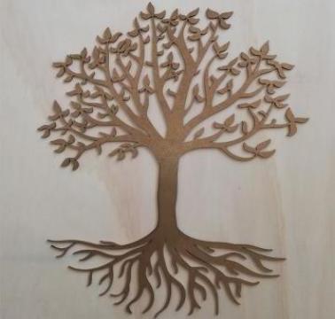 Decoratiune Copacul vietii, lemn, 50 cm