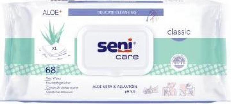 Servetele umede Seni Care Classic 68 buc. de la Sc Trio Biz Concept Srl