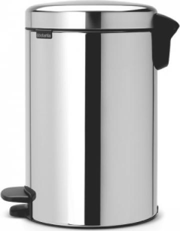 Cos de gunoi cu pedala, capac cu inchidere - 12 litri, inox de la Hoba Ecologic Air System Srl