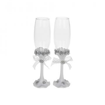 Pahare miri cu trandafiri cu cristale - DS45471 de la Dream-store.ro