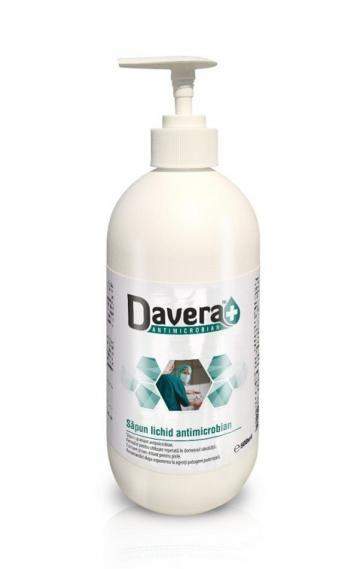 Sapun lichid antimicrobian Davera Soap - 500 ml de la Medaz Life Consum Srl