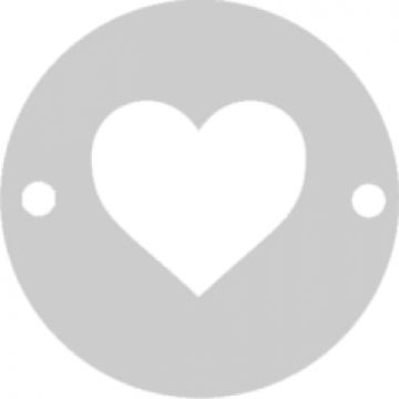 Bratara Inima Argint 925, banut decupat, snur negru, unisex