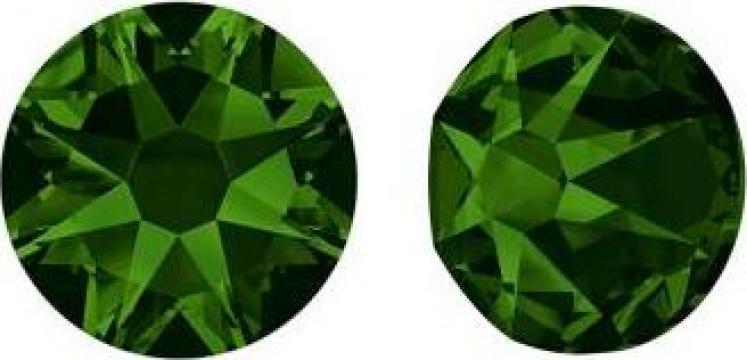 Cercei argint 925 si swarovski Crystal Dark Moss Green