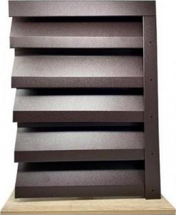 Gard metalic - jaluzele Atlas 2000x1045 mm mat BGM 0.45mm de la Vindem-ieftin.ro