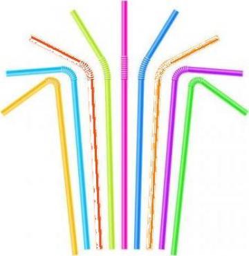 Paie flexibile color 240x5mm 1000 buc/set de la Cristian Food Industry Srl.