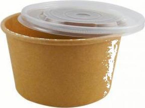 Bol supa carton natur 16oz (473cc) 500 buc/bax de la Cristian Food Industry Srl.