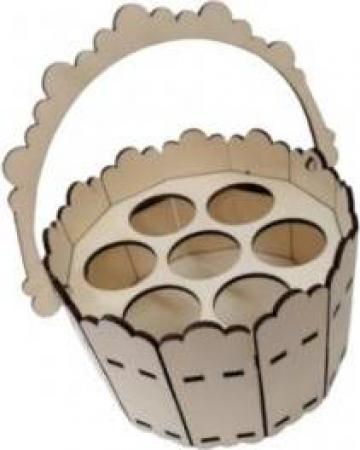 Cos lemn Paste, 7 oua, 17x11 cm