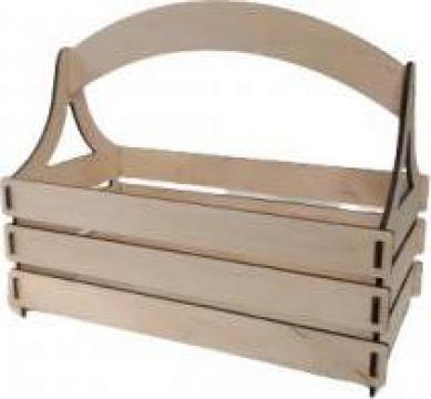 Cos lemn cu toarta , 26x13x18 cm