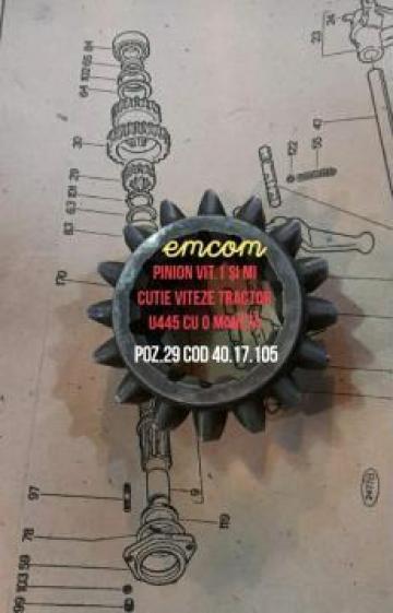 Pinion cutie de viteze 1 si MI tractor U445 de la Emcom Invest Serv Srl