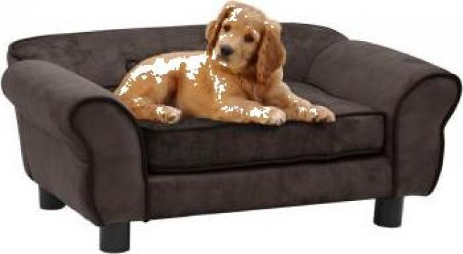Canapea pentru caini, maro, 72 x 45 x 30 cm, plus de la Vidaxl