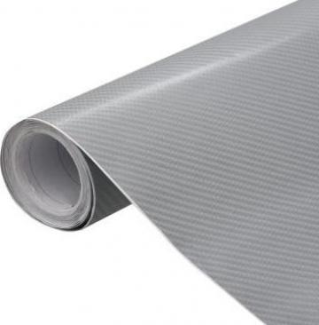 Folie auto 4D, argintiu, 200 x 152 cm