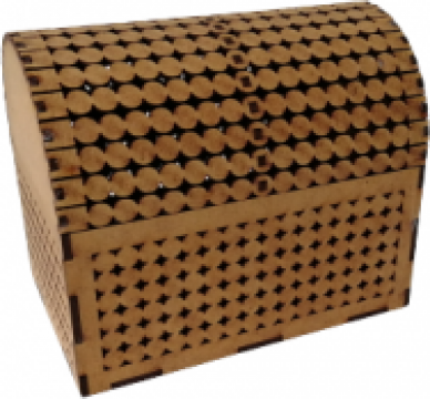 Minicufar lemn, 15x10x12.5 cm