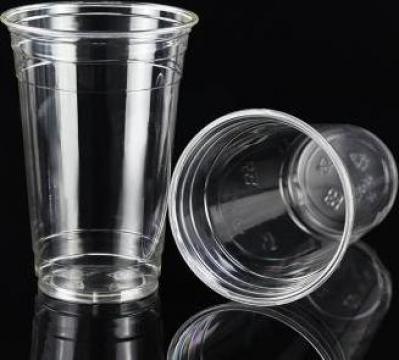 Pahar transparent gros din plastic 500ml 100 buc/set de la Cristian Food Industry Srl.