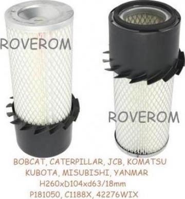 Filtru aer Bobcat, Caterpillar, JCB, Komatsu, Kubota, Yanmar de la Roverom Srl