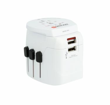 Adaptor priza universal Skross Pro Light USB World 1.302550 de la Mobilab Creations Srl