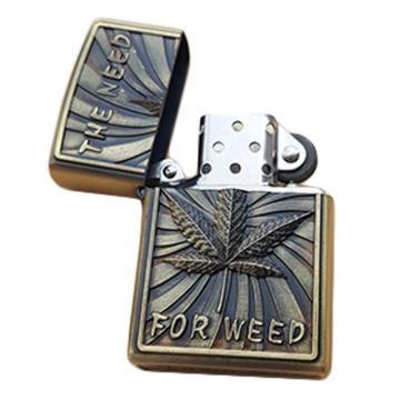 Bricheta zippo, 3D relief, metalica, the need for weed de la Dali Mag Online Srl