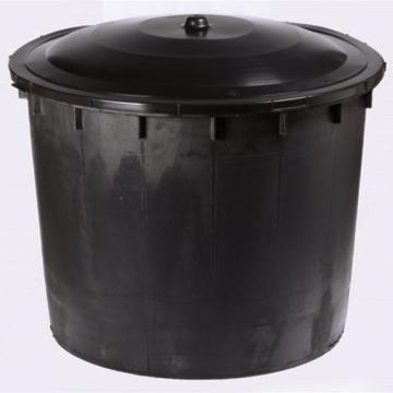Butoi 500 litri negru cu capac