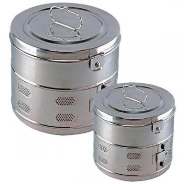Casoleta sterilizare cu capac, inox, 120 x 120 mm (1 buc)