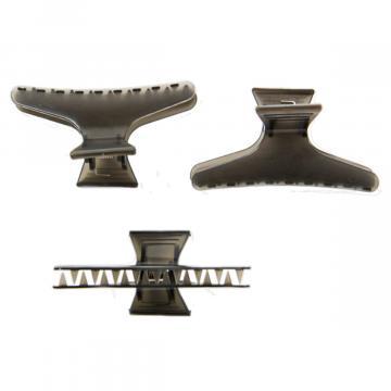 Clema par pentru coafat, plastic, negru, 8.2cm (12 bucati)