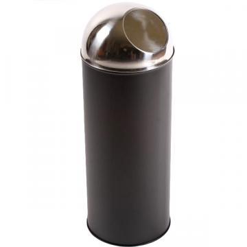 Cos gunoi Push (corp inox), 30 litri