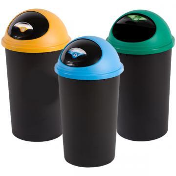 Cos gunoi Small Hoop - 25 litri - capac albastru / galben