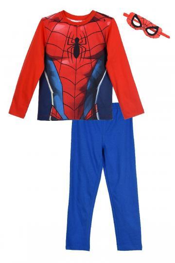 Costum Spiderman, bumbac, rosu cu albastru