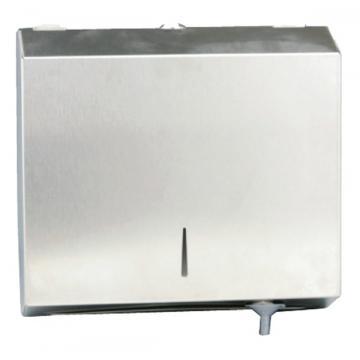 Dispenser inox oglinda, pentru prosoape hartie pliata
