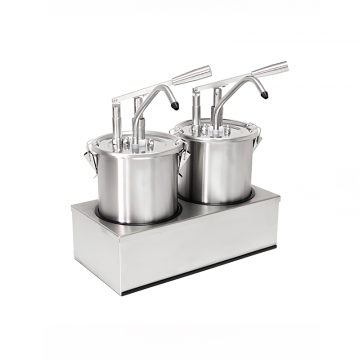 Dispenser multiplu inox cu pompa 4.5 litri de la GM Proffequip Srl