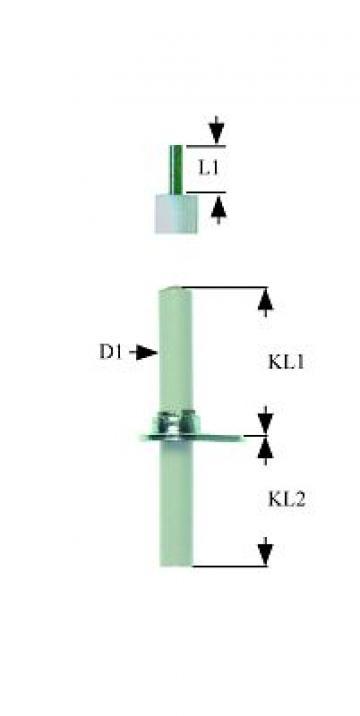 Electrod aprindere lungime flansa 26mm, 102879