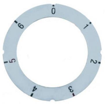 Eticheta buton 7 pozitii, diametru exterior 63mm