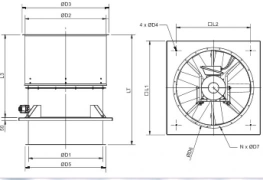 Ventilator HGHT-V/4-1250