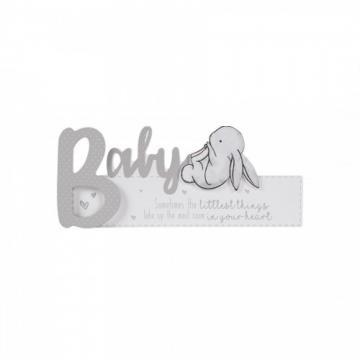 Cadou Hugs and Kisses - Placuta cu iepuras Baby de la Krbaby.ro - Cadouri Bebelusi