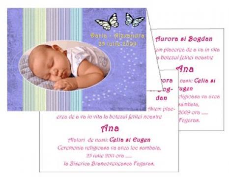 Invitatii de botez personalizate INVB011 de la Apia Prest Srl