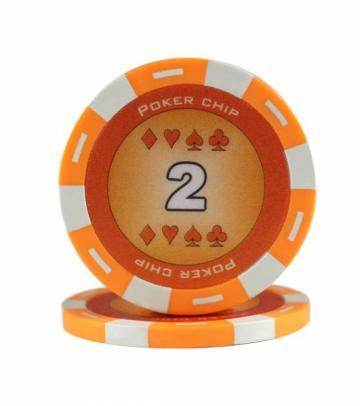 Jeton Poker Chip 11.5g - culoare portocaliu de la Chess Events Srl