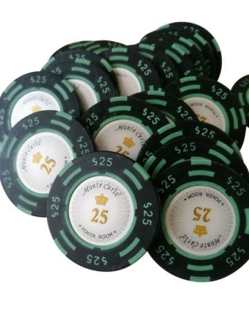 Jeton Poker Montecarlo 14 grame Clay, inscriptionat 25 de la Chess Events Srl