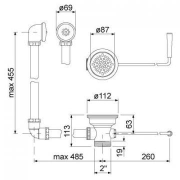 Maner curbat pentru scurgere din plastic 515131 de la Kalva Solutions Srl