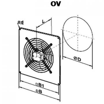 Ventilator axial OV 4E 550