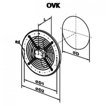 Ventilator axial OVK 2D 250
