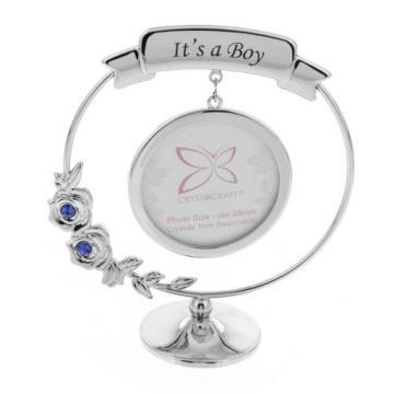 Ornament rama foto cu cristal Swarosvki It's a Boy
