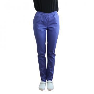 Pantaloni medicali mov cu elastic si doua buzunare laterale de la Doctor In Uniforma SRL