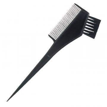 Pensula vopsit parul, cu pieptene pe o parte, negru
