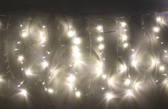 Perdea luminoasa turturi 240 LED-uri albe lumina calda