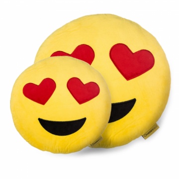 Perna decorativa Emoji Indragostit, Happy Face, Galben de la Mobilab Creations Srl
