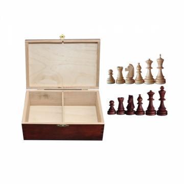 Piese sah lemn Staunton 6 in cutie de lemn de la Chess Events Srl