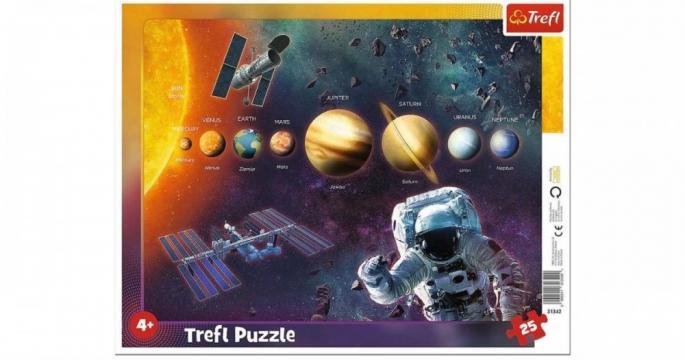 Puzzle cu chenar Trefl Sistem solar cu 25 piese de la Pepita.ro