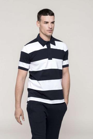 Tricou Ray - Sewn Stripe Short Sleeve Polo Shirt de la Top Labels