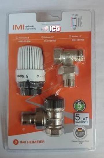 Robinet termostatic 1/2 + cap termostatat + robinet retur