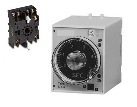 Releu de timp timer 220VAC, 0.05~0.5s/5s/30s/3min