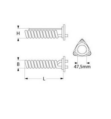 Rezistenta 2625W, 230V, flansa 47.5mm de la Kalva Solutions Srl